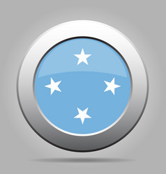 Button flag - federated states micronesia vector