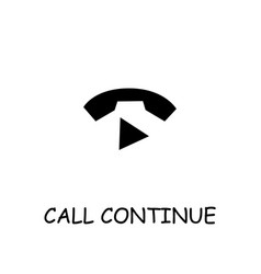 Call continue flat icon vector
