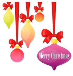 Card Christmas balls vector image