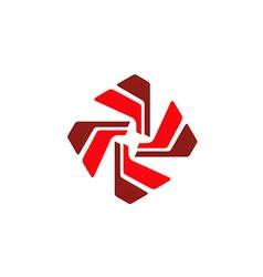 Circular shape spin abstract technology logo vector