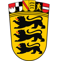 Coat arms baden-wuerttemberg land of vector