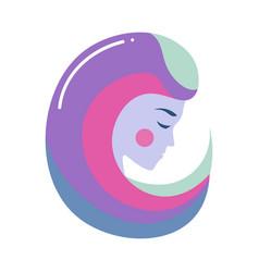 Colorful head woman virgo zodiac sign modern vector