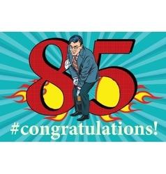 Congratulations 85 anniversary event celebration vector