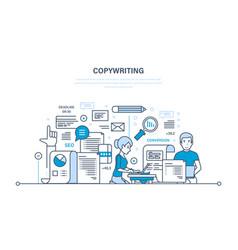 Copywriting creative writing of articles seo vector