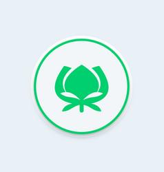 Cotton icon farm sign vector