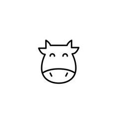 cow ox icon vector image