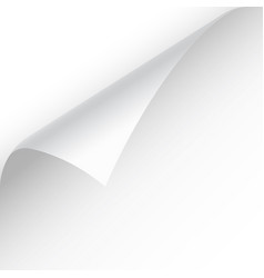 curled page corner with shadow on transparent vector image