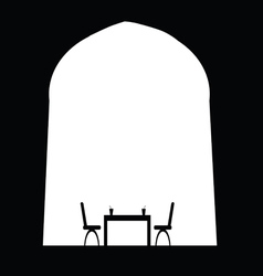drink with table and chair vector image