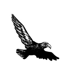 eagle grunge style icon vector image vector image