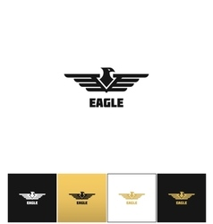 Eagle logo or falcon emblem icon vector image vector image