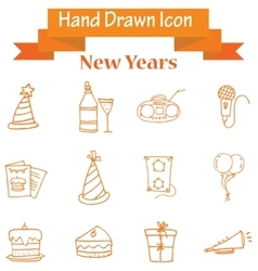 Element of new year icons collection vector image