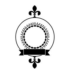 Embellished emblem or label icon image vector