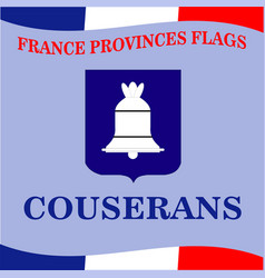 Flag of french province couserans vector