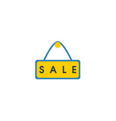 flat icon sale sign element vector image