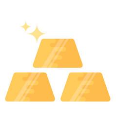 Gold ingots vector