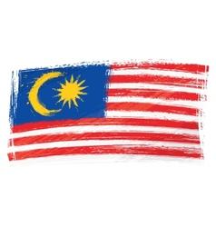 Grunge Malaysia flag vector