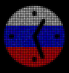 halftone russian clock icon vector image