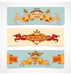 Hand Drawn Ribbons Banners vector