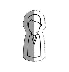 Human figure of man icon vector