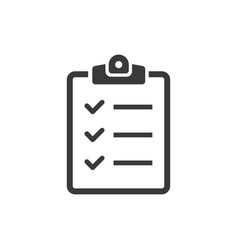 icon clipboard checklist on white background vector image
