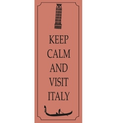 Italy travel card vector