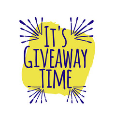Its giveaway time banner concept for web gift vector