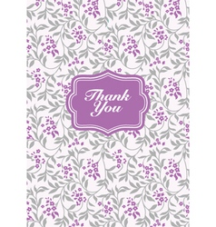 Lilac pastel Thank You Frame vector image