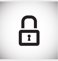 lock on white background vector image