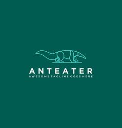 Logo anteater line art vector