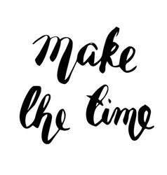 make the time lettering vector image