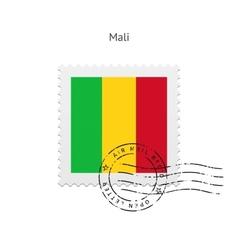 Mali Flag Postage Stamp vector