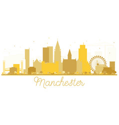 Manchester england city skyline golden silhouette vector