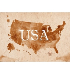 Map United States retro vector
