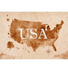 Map united states retro vector