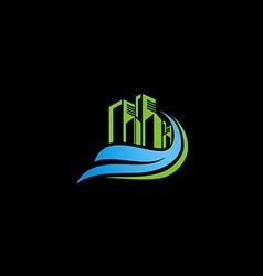 modern building cityscape logo vector image