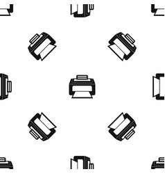 Modern laser printer pattern seamless black vector