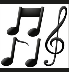 musical icons on white background vector image