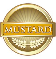 Mustard gold label vector