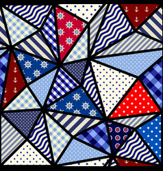 nautical patchwork pattern vector image