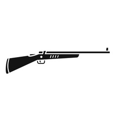 old hunting rifle icon simple style vector image