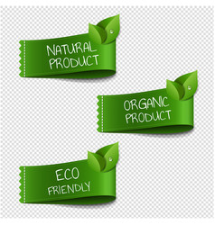 organic labels transparent background vector image