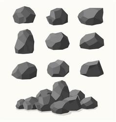 pile of stones graphite coal vector image