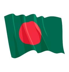Political waving flag of bangladesh vector
