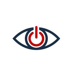 power eye logo icon design vector image