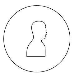 profile side view portrait black icon outline in vector image
