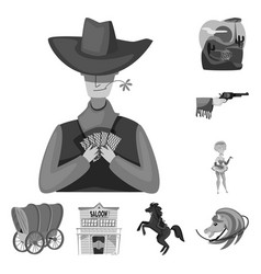 Ranch and farm icon set of vector