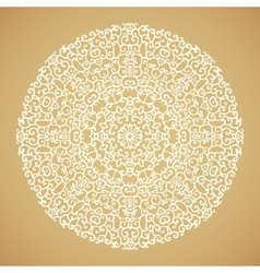 Round mandala kaleidoscopic ornamental background vector