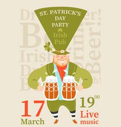 saint patricks day party vector image