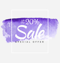Sale final up to 20 off sign over art brush vector