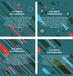 Set of abstract avangarde retro background with vector